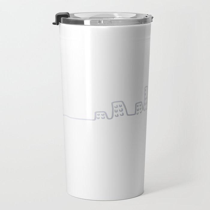 City line silver Travel Mug