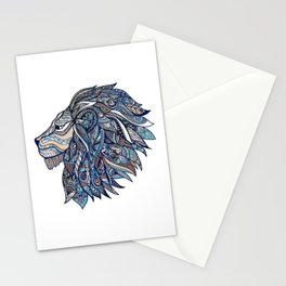 Colorful ornate lion head Stationery Cards