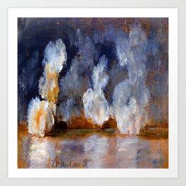 Johan Christian Dahl Smoke from Cannon Shots Art Print