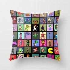 Pixel Heroes Throw Pillow