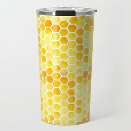 Watercolour Honeycomb Travel Mug