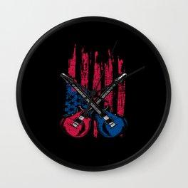 Guitar USA Wall Clock