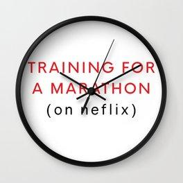 Netflix Marathon Wall Clock