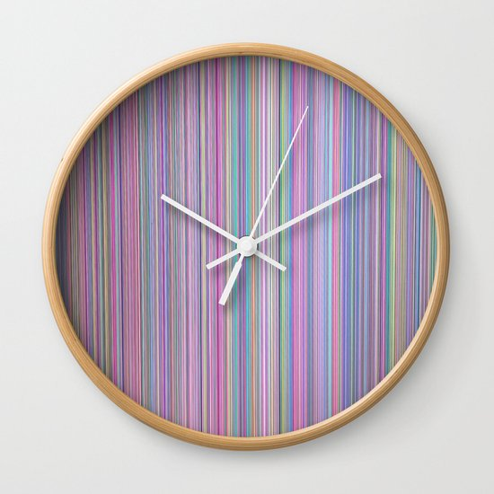 Broken TV Screen Test Pattern Wall Clock