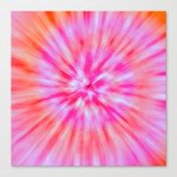 tie dye Canvas Prints featuring TIE DYE by Nika