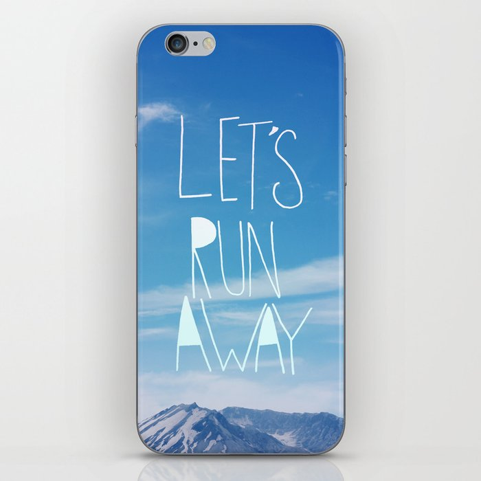 Let's Run Away: Mount Rainier iPhone Skin