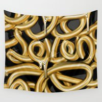 numbers Wall Tapestries featuring Spelling Numbers. Seven by Jose Bernabe Studio