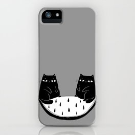 Cats in perfect balance iPhone Case
