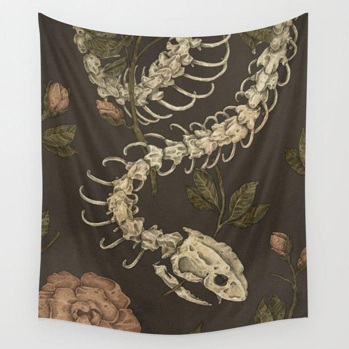 Snake Skeleton Wall Tapestry