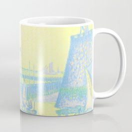 "Paul Signac ""Evening (The Jetty of Vlissingen) (Abend-La jetée de Flessingue)"" from the journal Pan Coffee Mug"