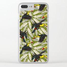 toucan jungle Clear iPhone Case
