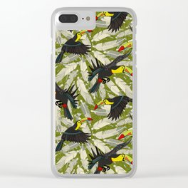 toucan jungle Clear iPhone Case