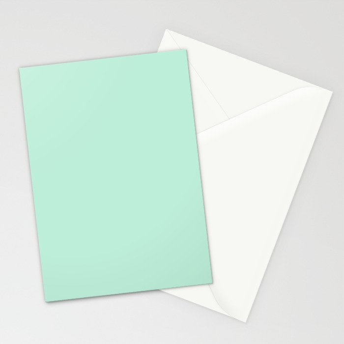 Mint Green Stationery Cards