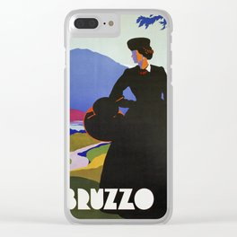 Abruzzo Italian travel Lady on a walk Clear iPhone Case
