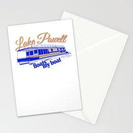 Lake Powell floats my boat Stationery Cards