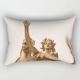 Golden Lady Rectangular Pillow