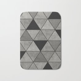 Concrete triangles II Bath Mat