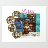 matty healy Art Prints featuring Matty by Elana Barron