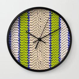 Abstract Waves III Wall Clock