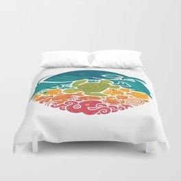 Aquatic Rainbow (white) Duvet Cover