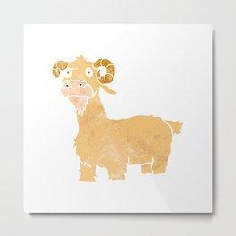 Goat cartoon. Metal Print