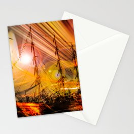 Romance of sailing Stationery Cards