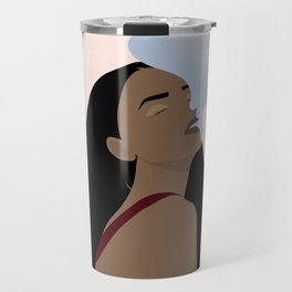 Rihanna smoke illustration  Travel Mug