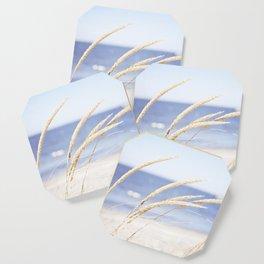 Beach Grass Blue Photography, Coastal Ocean Landscape, Sea Seashore Seascape Shore Coaster