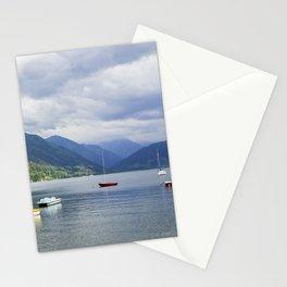 Blue mountain lake Stationery Cards