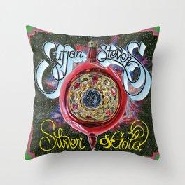 Silver & Gold Throw Pillow