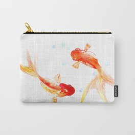 Goldfish, Two Koi Fish, Feng Shui, yoga Asian meditation design Carry-All Pouch