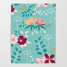 Exotic Flower Pattern Poster