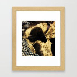 Jimmy Sleeping Framed Art Print