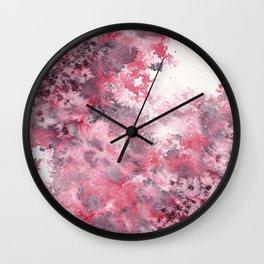 Watercolor Burst I Wall Clock