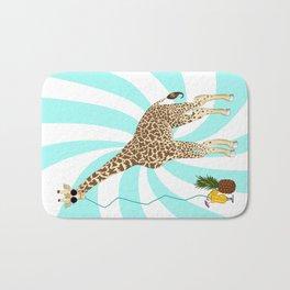 Drunk Giraffe  Bath Mat