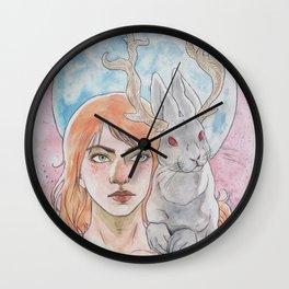 Blue Moon Jackalope Wall Clock