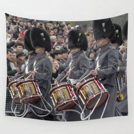 Snare Drums Marching during the Changing of the Guard in front of Buckingham Palace London England Wall Tapestry