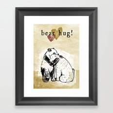 Bear Hug! Framed Art Print