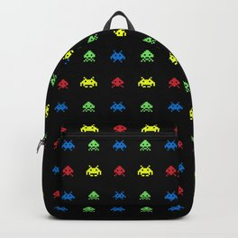 space aliens invaders stylish gamer art Backpack