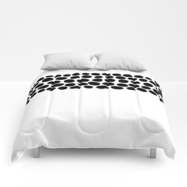 Onyx Black Spots on White Comforters