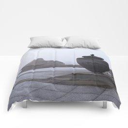 Sphinx in Fog Comforters