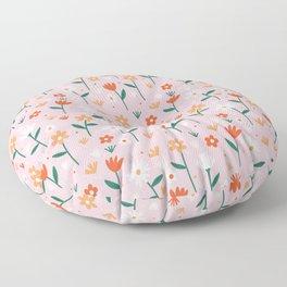 Flowers In Summer Floor Pillow