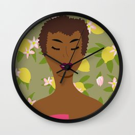 Cultivated and Zesty No 03 Wall Clock