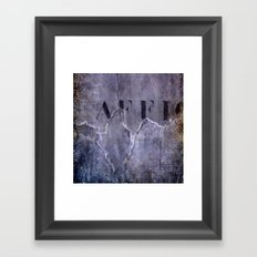 no fly posting Framed Art Print