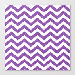 Purple: Chevron Pattern Canvas Print