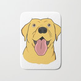 Yellow Labrador Retriever Gift Yellow Lab Gift Print Bath Mat