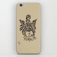 yorkie iPhone & iPod Skins featuring LOVE YORKIE by Elisa Daniele