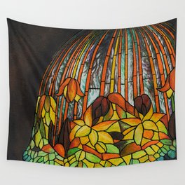 Dropping Flower Lamp Wall Tapestry