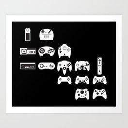 History of gaming Art Print