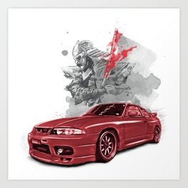 Nissan Skyline GTR 33 Art Print